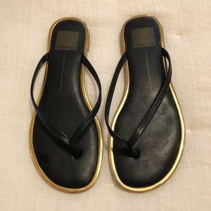 Dolce Vita Women's Dawn Thong Sandal Black/Gold